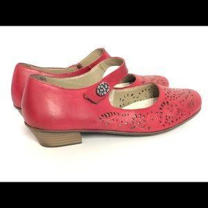 Rieker Antistress Red Leather Mary Jane (EU 42)